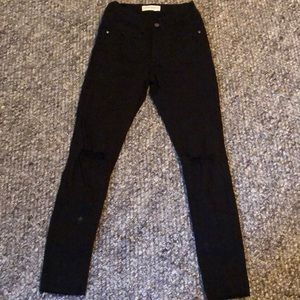 Size 24 High Waisted Black skinny Jeans